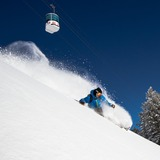 Powder and Blue Sky at Snowbasin, Utah