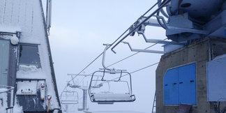 Sesongens første snøfall på Hafjell