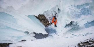 Speed-Free-Solo von Dani Arnold: 340 Meter im Eis in weniger als 30 Minuten