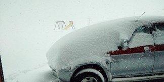 Eerste sneeuw in Italië