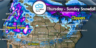 Snow Before You Go: Big Powder West, Lighter Snow Northeast - ©Meteorologist Chris Tomer
