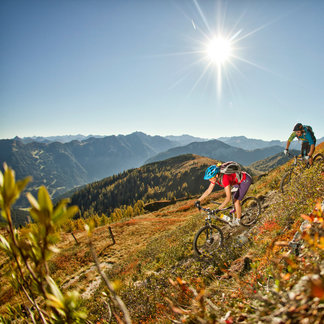 Mountainbiker in Flachau