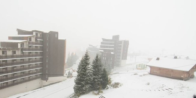 Snowfall in the Alps Oct. 22, 2014