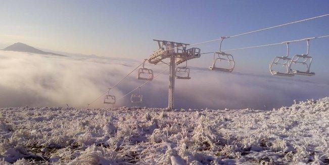 Prvý sneh na Slovensku 22.-23.10.2014