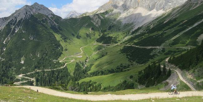 Bike-Trails in der Tiroler Zugspitzarena
