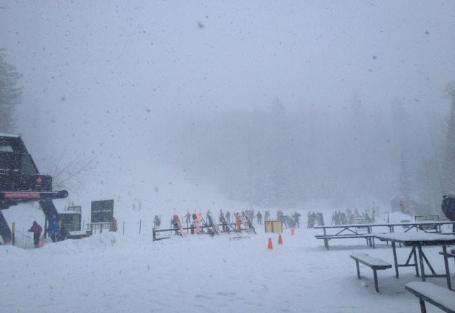 lots and lots of snow! get here tomorrow while you can experience the powder