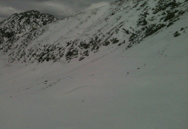 Giants territory yesterday. Still some fresh tracks imbetween snow sharks.