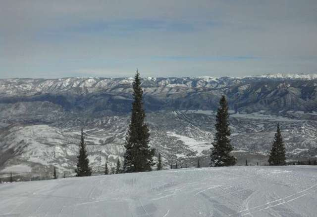 View from Sheer Bliss yesterday.  Some icy patches but mostly groomed and fast.