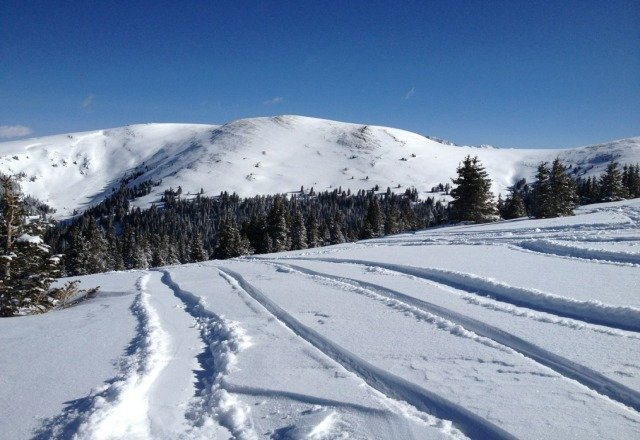 hit up the outback this morning with the new snow last night. it was epic yesterday morning!