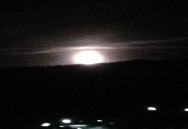 moon rising over Keystone