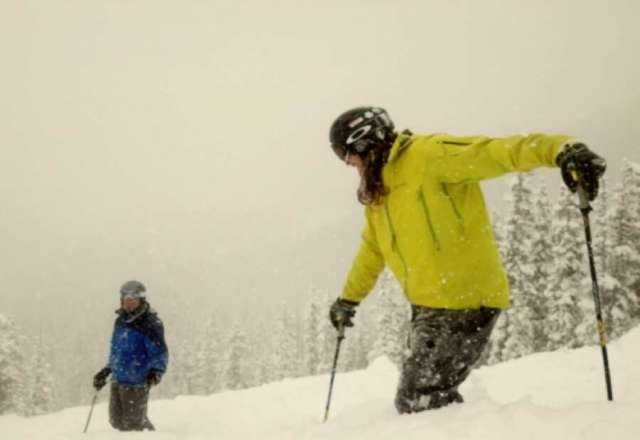 Soo much snow! Ski patrol kept opening runs all day with wait deep snow and practically no one around! and it never stopped snowing! Easier runs were getting a fresh coat all day as well. Monarch is shaping up to have a great season!