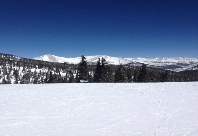 Bluebird day, great snow!