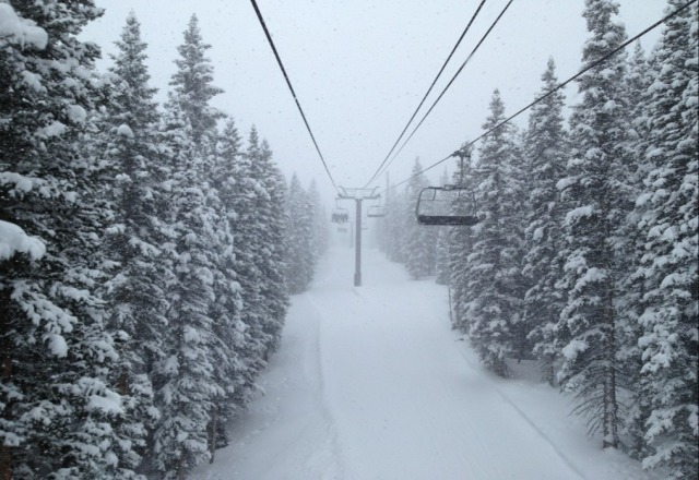 It's dumping snow today!