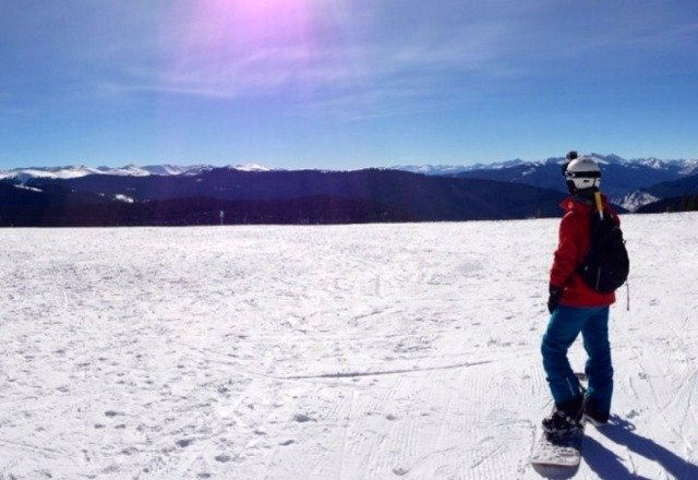 Cover was thin yesterday, but with the tons of sun and the altitude it was good enough to have a ton of fun yesterday.