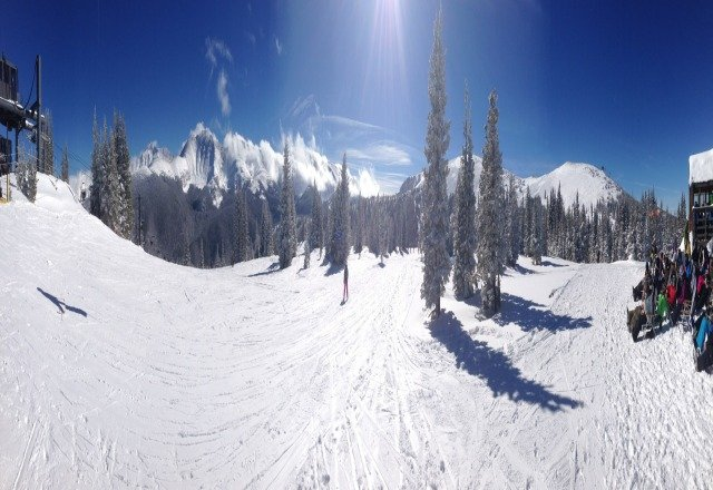 eagle wind was open today. knee deep where it wasnt getting baked in the sun. panaromic was untouched this morning best day of the year!