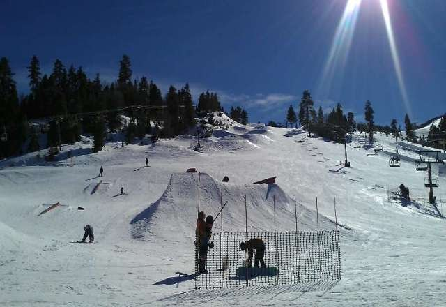 perfect weather today! no lines good snow