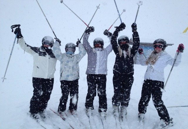 fresh snow today - glenlola collegiate girls