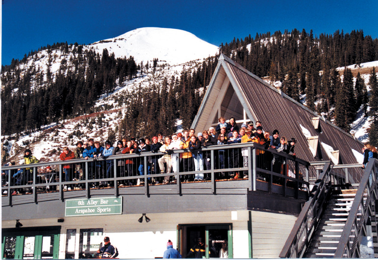A church group at Arapahoe Basin, CO.