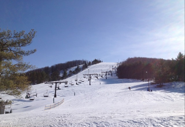 Bluebird day, corn developing, full coverage, minimal people.