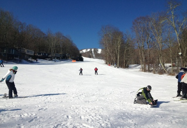 warm, sunny, but real good slopes.  alot of fun, plus plenty o' beer