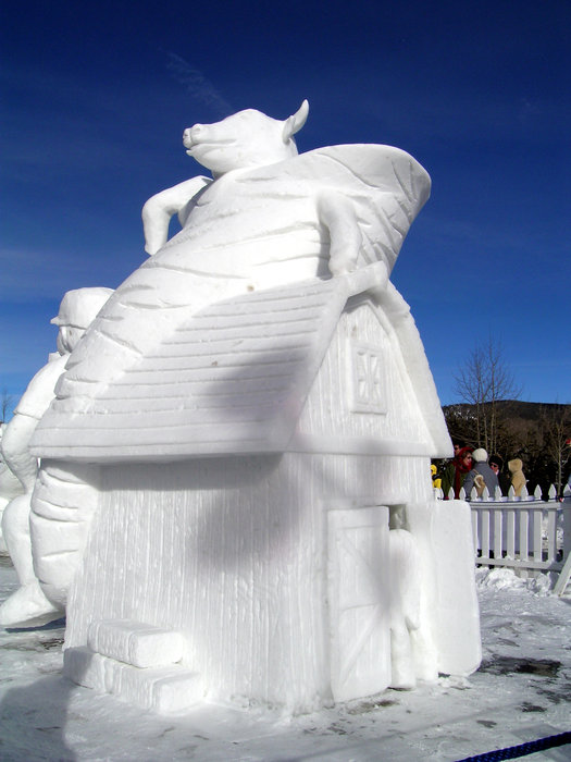 Ice sculpture created by Team Canada in Breckenridge, Colorado