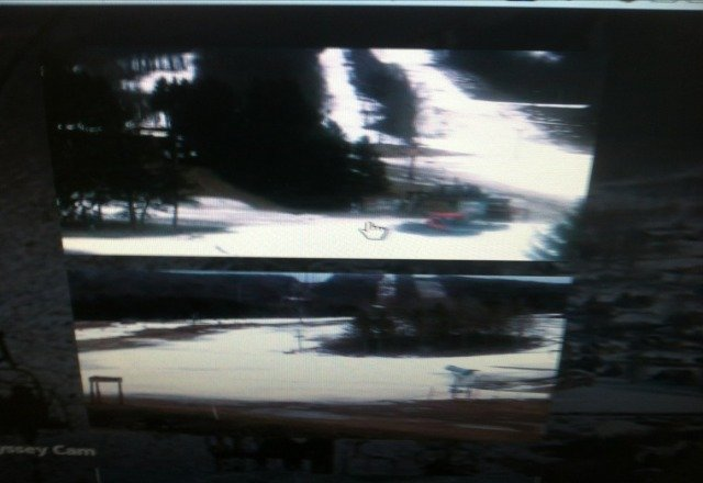 pics from web cam dont look good. looks like warm weather killed the based! need to start making snow ASAP!