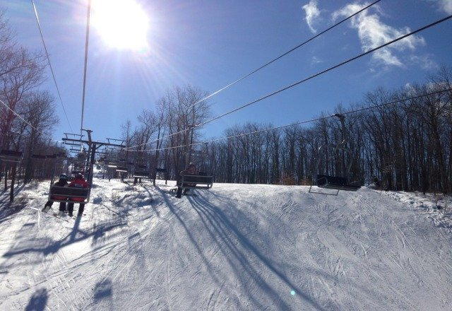 Bluebird day with supreme conditions. 100% open.