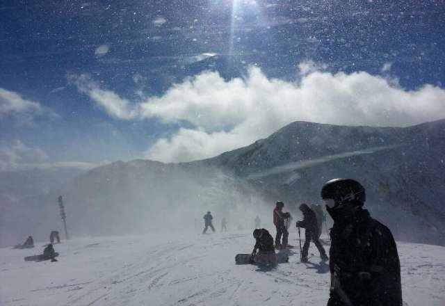 still windy at the top on Friday. 2nd best ski resort I've ever been to! (Alta's #1)