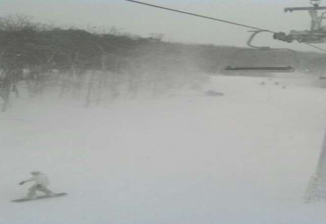 blowing snow like crazy plus a little natural all trails open now good times