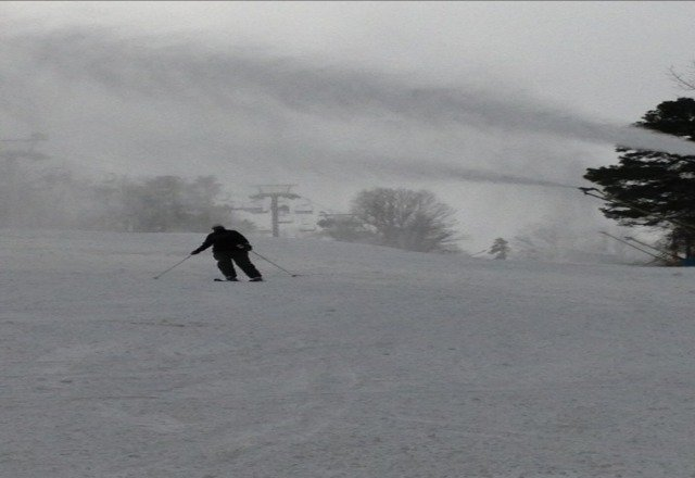 Snow machine running. Lots of fun, but a little slow.