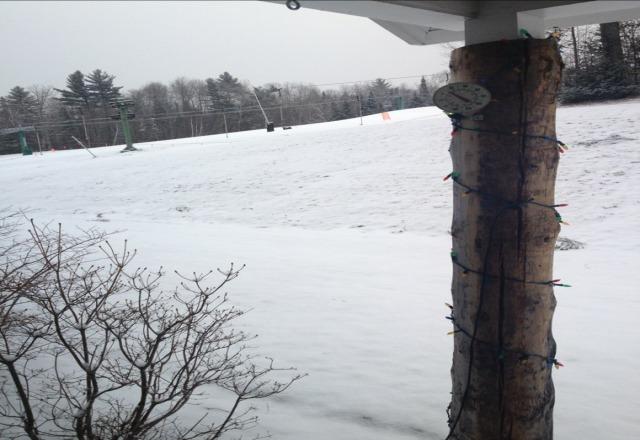it's snowing, hope it keeps up!