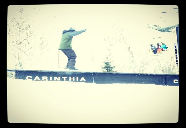 sweet shred sesh at Carinthia today.