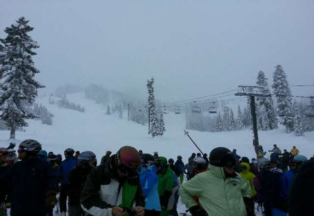 deep pow out there and its not letting up if you have a board you should be on it out there! it's epic!