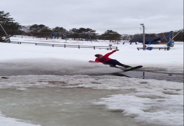 fun times skiing yesterday