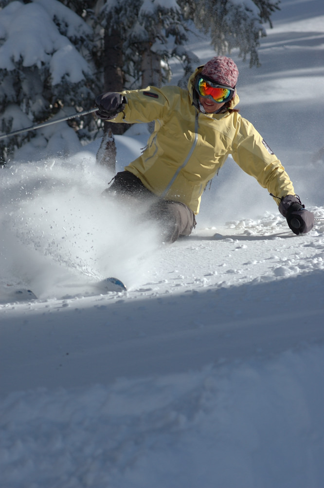 This skier creates new tracks in Crested Butte, Colorado