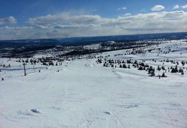 Gode kj?reforhold i Storefjell, sol og fint v?r (-1?)