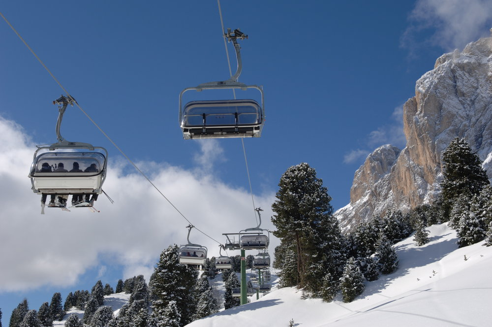Lift system in Val Gardena