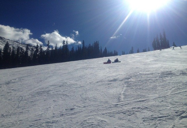 Great day but please sleigh riders, dont sit in the middle of the slope.