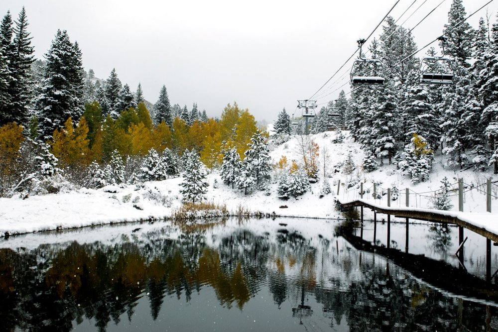 From fall to winter overnight at Angel Fire Resort