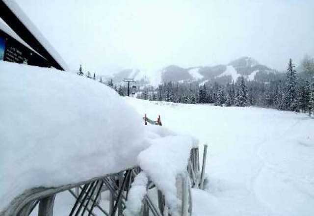 34cm in the past 48 hours and 24cm expected soon