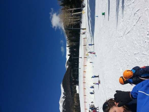 only lower mountain open and terrain park but still better than not going