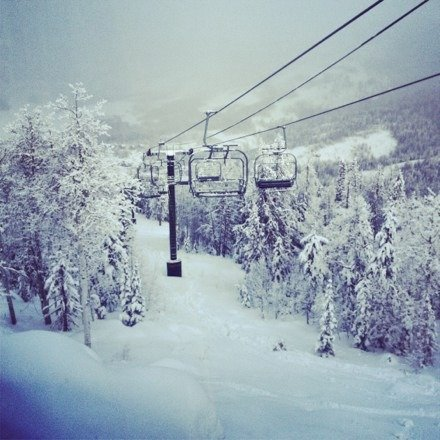 White pine is OPEN. Both lifts and the rope tow are running. LOTS of snow here.