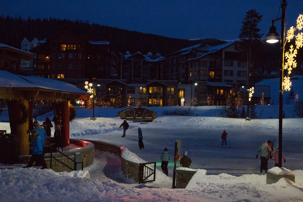 Disco Skate at the Village Ice Rink at Winter Park. - ©Photo courtesy Winter Park Resort.