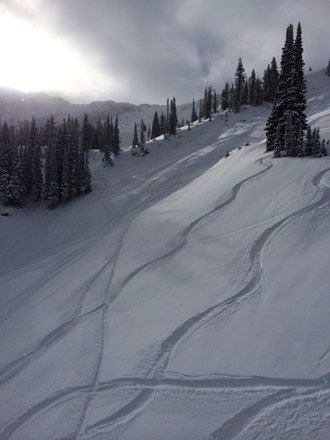 Awesome powder and great lines!!! Tons of new snow from storm yesterday and day before and more coming tonight!!!
