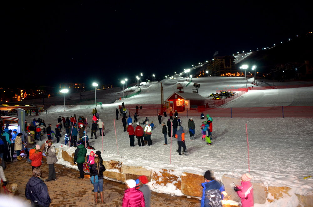 Night skiing starts at Steamboat, Dec. 20, 2013. - ©Photos courtesy Shannon Lukens.