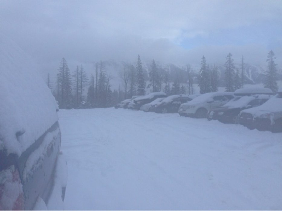 Insane snow all day. Two bowls closed because of avalanche hazard. Amazing day today!