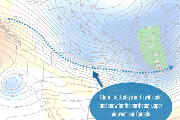 The jet stream will stay to the north, and that's where you'll find the best conditions.
