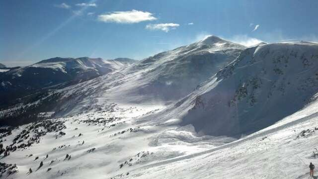 Awesome day at breck! Massive amounts of powder and short lines by peak 10. photo taken from the view on top of peak 6