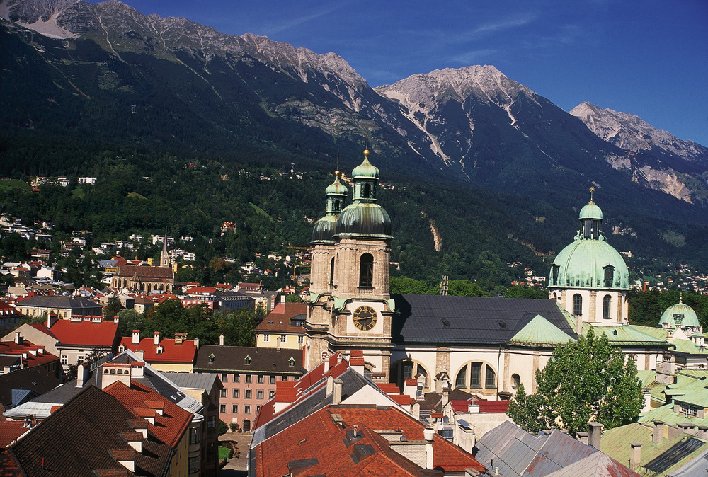The lovely city of innsbruck, AUT in summer.