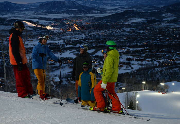 Night skiing just opened up at Steamboat. - ©Larry Pierce